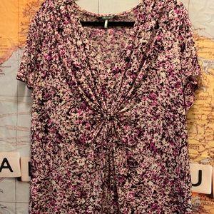 Daisy Fuentes Purple & Pink Blouse